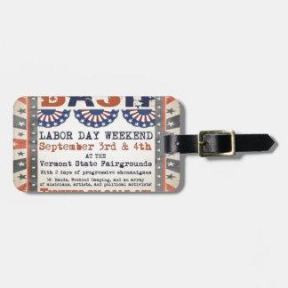Bernie's 75th Birthday Bash and Labor Day Festival Luggage Tag