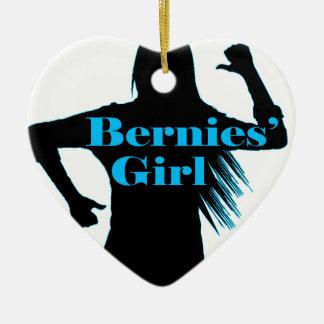 Bernies Girl Bernie Sanders Ceramic Heart Ornament