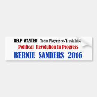 BernieSanders: Political Revolution on white Bumper Sticker