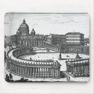 Bernini's original plan for St. Peter's Square Mouse Pad