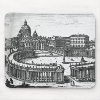 Bernini's original plan for St. Peter's Square Mouse Pad