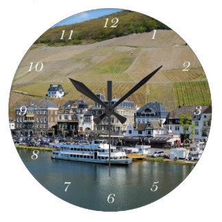 Bernkastel Kues at Moselle Large Clock