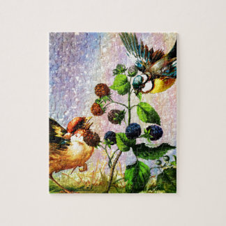 BERRIES AND BIRDS JIGSAW PUZZLE