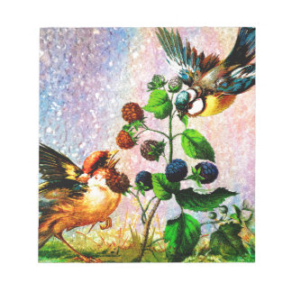 BERRIES AND BIRDS NOTEPAD