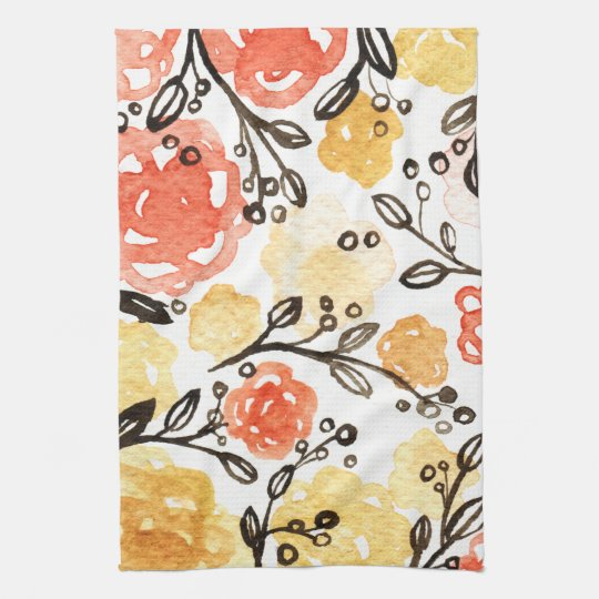 Berries and Floral Kitchen Towels