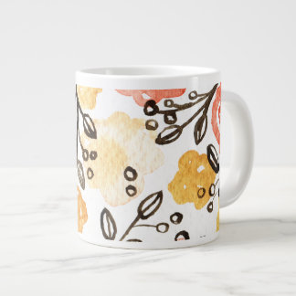 Berries and Floral Large Coffee Mug