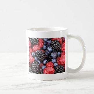 berries background coffee mug