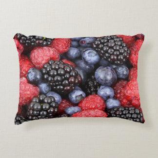 berries background decorative pillow