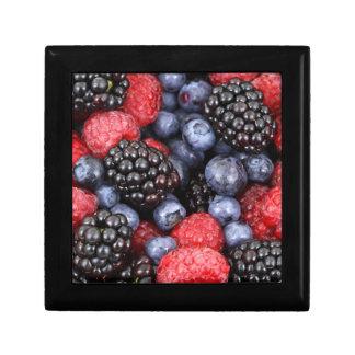 berries background gift box