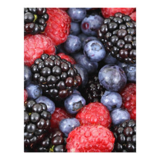 berries background letterhead