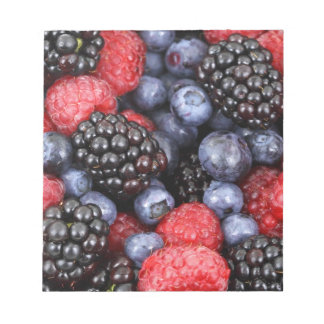 berries background notepad
