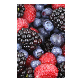 berries background stationery