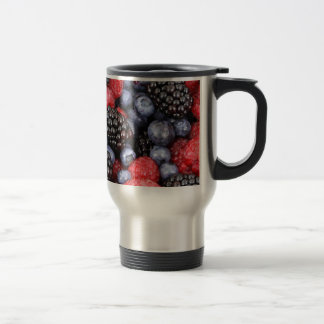 berries background travel mug