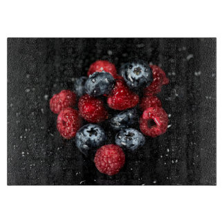 Berries cutting board, glass elegant foodie board