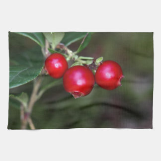 Berries of a wild lingonberry (Vaccinium vitis-ide Towels