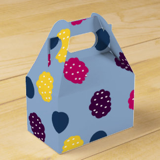 Berries on Blue Favor Box