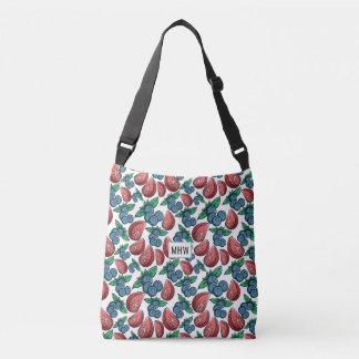 Berries Pattern custom monogram bags