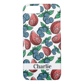 Berries Pattern custom name phone cases