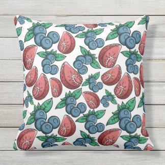 Berries Pattern throw pillows