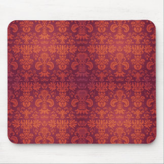 BerriOrange Damask(c) Old World Orange-Berry_ Mouse Pad