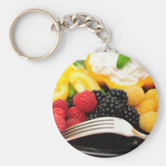 Berry And Cottage Cheese Salad Basic Round Button Keychain