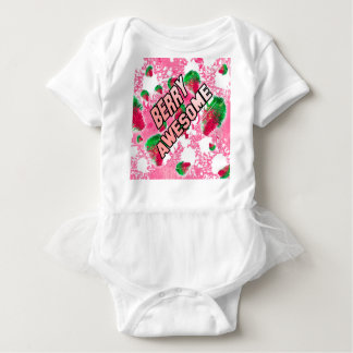 Berry Awesome Fruity Strawberries Baby Bodysuit