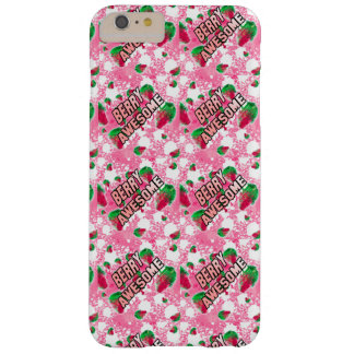 Berry Awesome Fruity Strawberries Barely There iPhone 6 Plus Case
