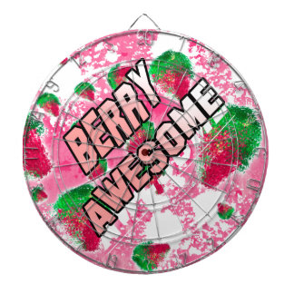 Berry Awesome Fruity Strawberries Dartboard