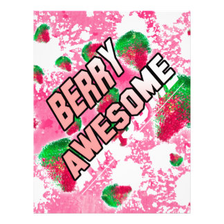 Berry Awesome Fruity Strawberries Letterhead