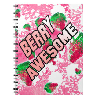Berry Awesome Fruity Strawberries Notebook