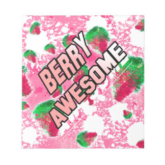 Berry Awesome Fruity Strawberries Notepad