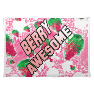 Berry Awesome Fruity Strawberries Placemat