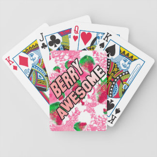 Berry Awesome Fruity Strawberries Poker Deck