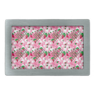 Berry Awesome Fruity Strawberries Rectangular Belt Buckle