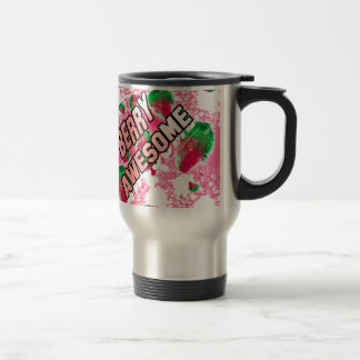 Berry Awesome Fruity Strawberries Travel Mug