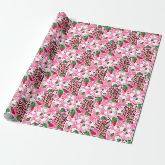 Berry Awesome Fruity Strawberries Wrapping Paper