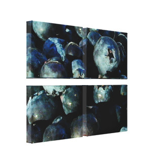 Berry Blues Canvas Print