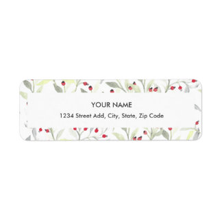 Berry Branches Return Address Label