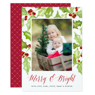Berry & Bright   Holiday Photo Card