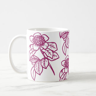 Berry Colored Sunflower Coffee Mug