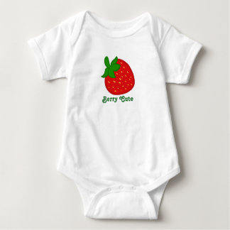 Berry Cute Red Strawberry Baby Bodysuit