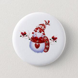 Berry Cute Snowman 2 Inch Round Button