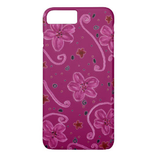 Berry Flower Patterned iPhone 8 Plus/7 Plus Case