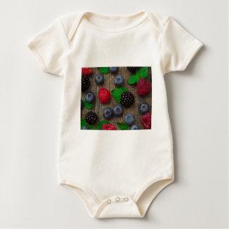berry fruit background baby bodysuit