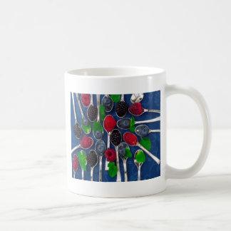 berry fruit background coffee mug
