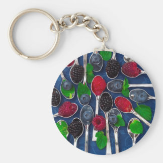berry fruit background keychain