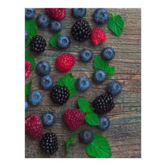 berry fruit background letterhead