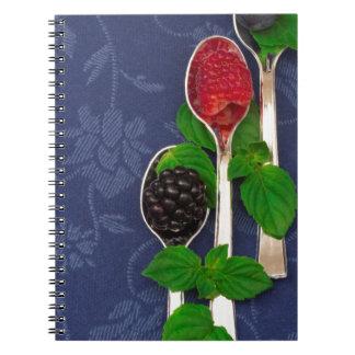 berry fruit background notebooks