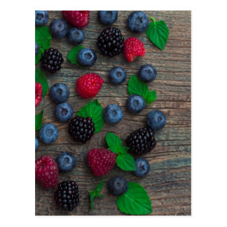 berry fruit background postcard