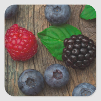 berry fruit background square sticker